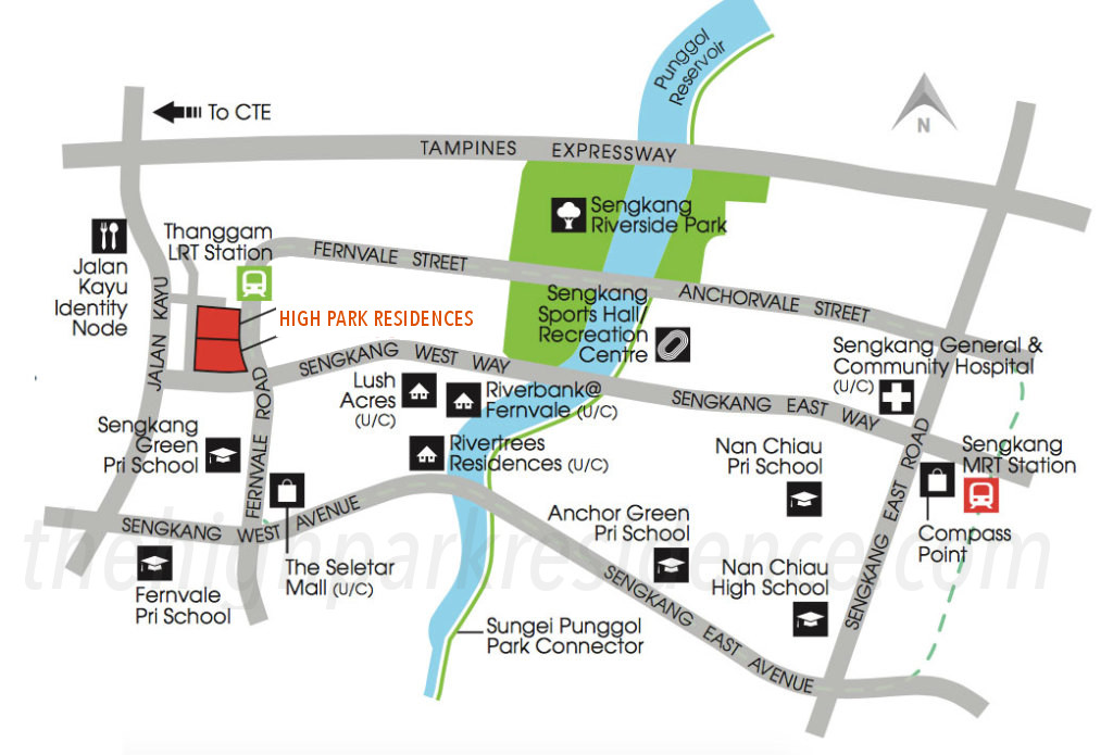 High Park Residences Location at Fernvale