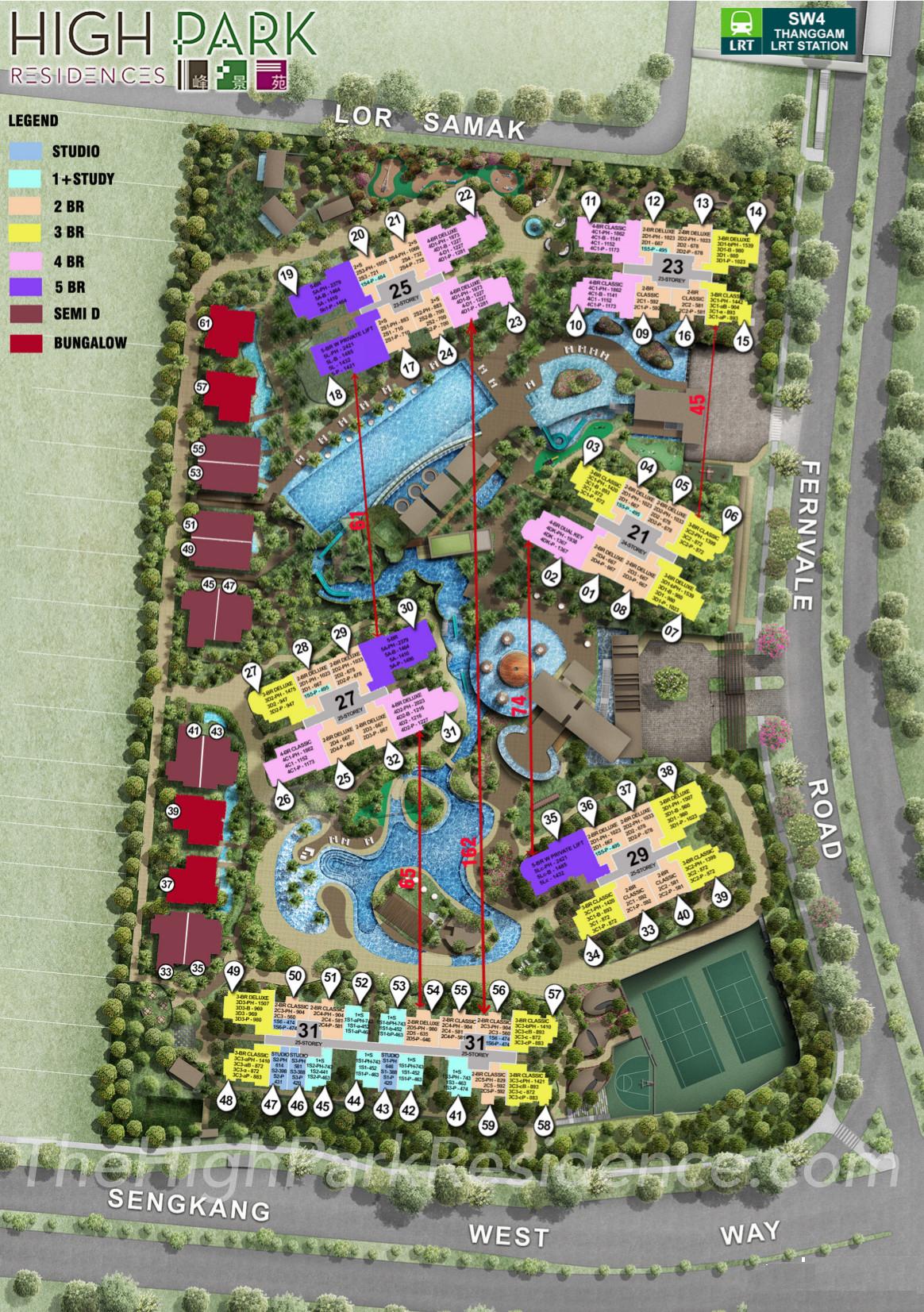 High Park Residences Site Plan Layout